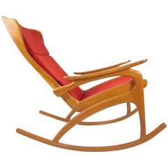 1960s Rare Rocking Chair, Czech Republic