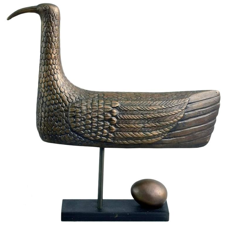 """Sunbird"" Limited Edition Bronze Sculpture by Stig Lindberg, 1970 1"