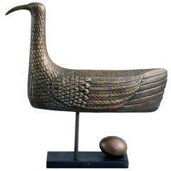 """Sunbird"" Limited Edition Bronze Sculpture by Stig Lindberg, 1970"