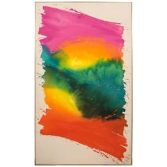 Large Abstract Painting by Peckins