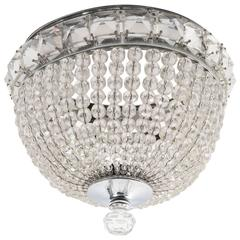 Flush Mounted French Beaded Shade