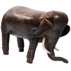 Abercrombie and Fitch Leather Elephant Ottoman