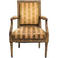 19th Century French Gilt Armchair