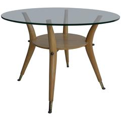 Italian 1950s Side Table in Style of Gio Ponti