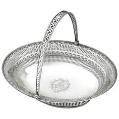 Extremely Fine George III Neo Classical Bread Basket by Richard Morton