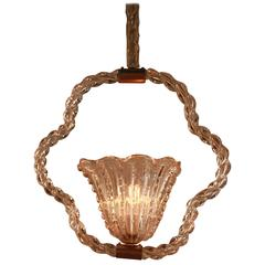 Mid-Century Barovier and Toso Murano Glass Chandelier