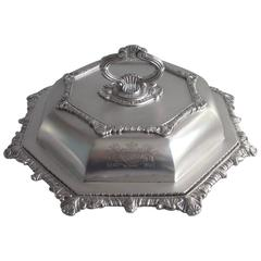 Rare and Very Unusual George III Octagonal Entree Dish by William Fountain