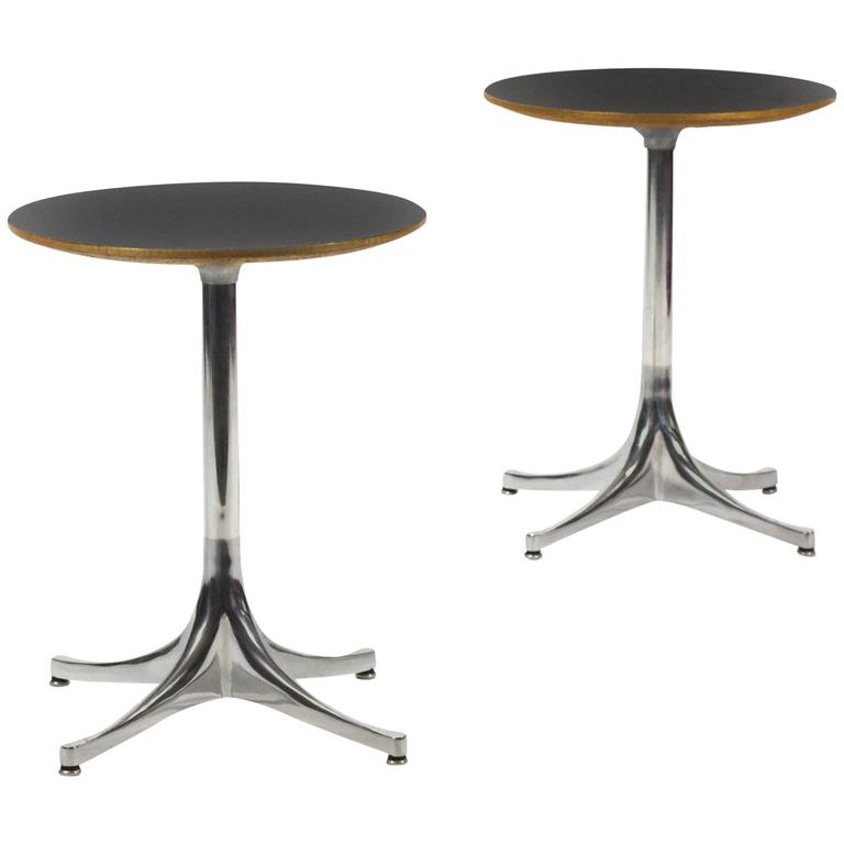 George Nelson Pair of Pedestal Side Tables by Herman Miller 1