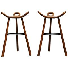 Carl Malmsten Attributed Bar Stools, Sweden, 1950