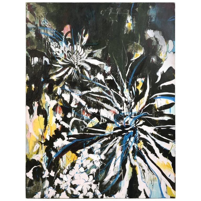 Andrew Blake Large Acrylic on Canvas, 2016
