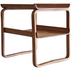 Model 915: Early Sled Base Birch Table by Alvar Aalto for Artek
