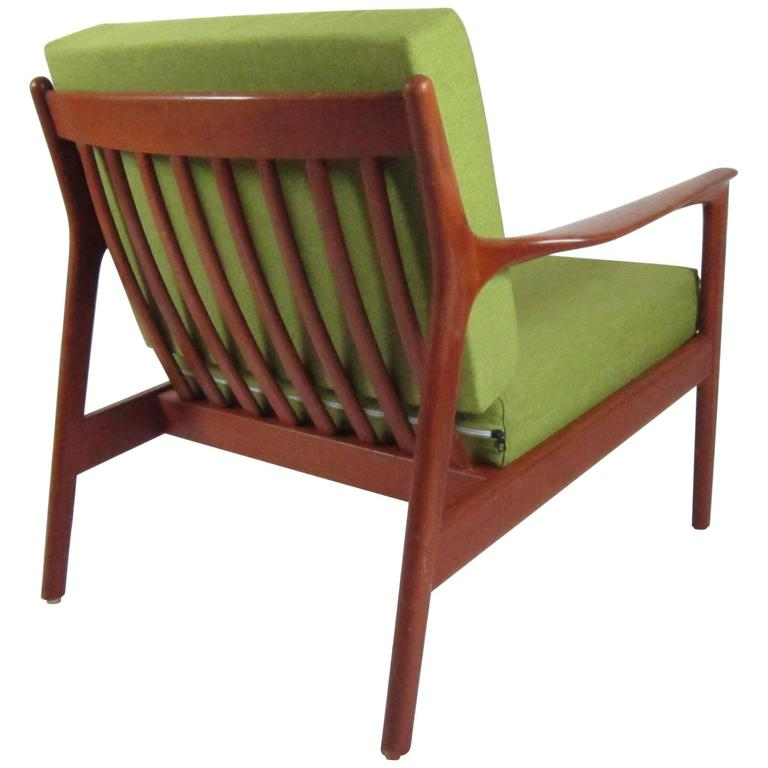 High Quality 1960s, Folke Ohlsson Lounge Easy Chair, DUX, Sweden For Sale