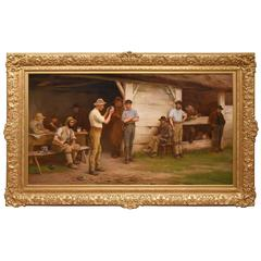 """A Game of Quoits"" by Henry Garland"