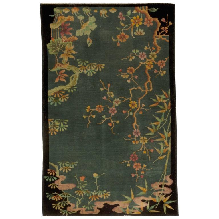 Vintage Chinese Art Deco Rug 1