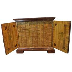 Rare Coin Collector's Cabinet 129 Lined Coin Drawers