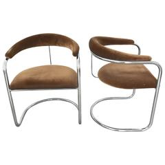 Pair of Anton Lorenz Model SS33 Chairs for Thonet