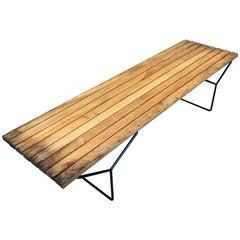 Slatted Bench by Harry Bertoia for Knoll