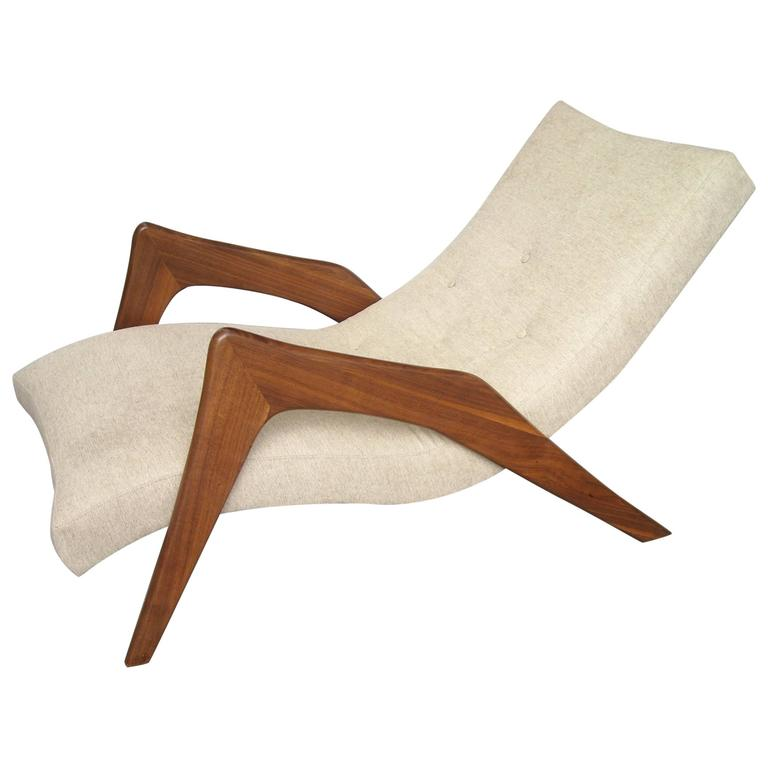"Adrian Pearsall ""Grasshopper"" Walnut, Lounge Chair For Sale"