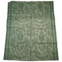 Fortuny Carnavalet Green and Gold Fabric