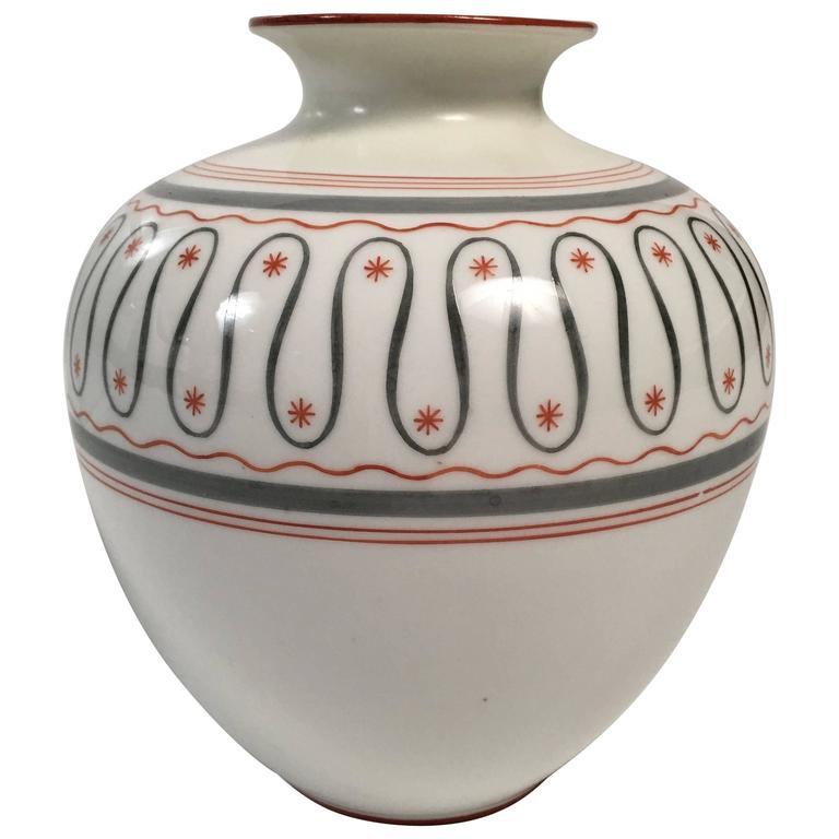 Art Deco German Porcelain Vase, circa 1930 For Sale