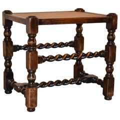 19th Century English Cane Top Stool