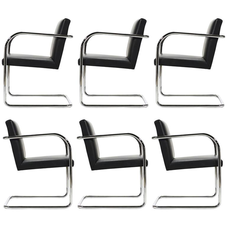 Mies Van Der Rohe Set of Six Brno Chairs 1