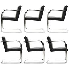Mies Van Der Rohe Set of Six Brno Chairs