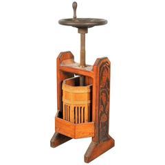 Antique Carved Grape Press