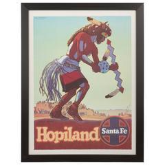 """Original Vintage Santa Fe Railroad Poster """"Hopi Land"""" by Don Perceval"""