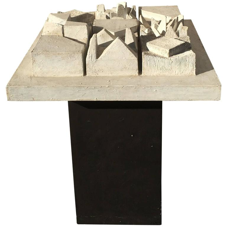 1960s Andy Nelson Original Pedestal Sculpture from Artist's Personal Estate For Sale