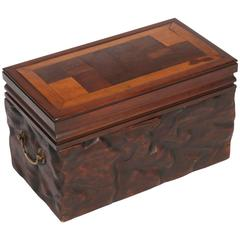 Wooden Box with Marquetry Top, circa 1890