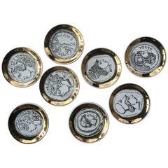 Set of Eight Never Used Bucciarelli Milano Coasters in Roman Empire Design