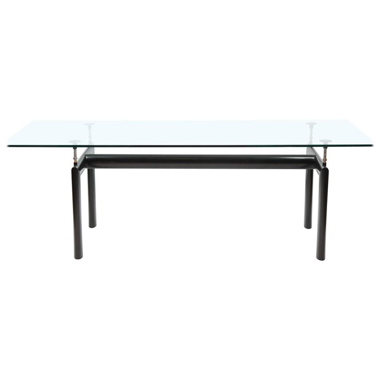 glass table from le corbusier for sale at 1stdibs. Black Bedroom Furniture Sets. Home Design Ideas