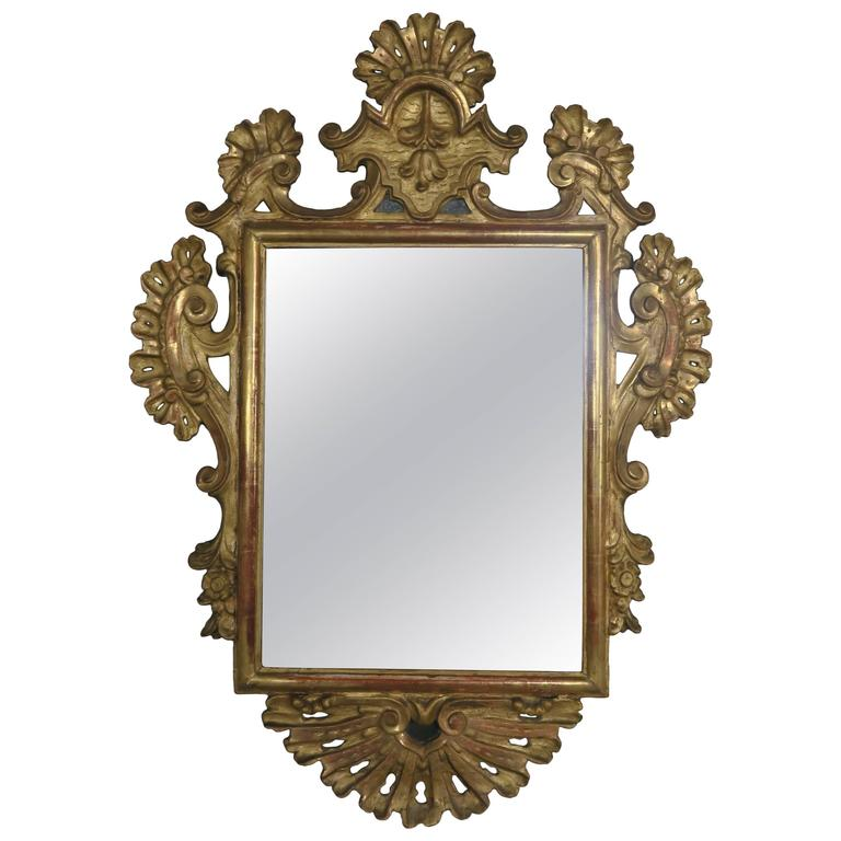 Spanish Colonial Gilt and Painted Mirror Frame, 19th Century at 1stdibs