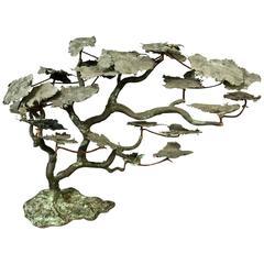 Mid-20th Century Brass Sculpture of a Serengeti Tree
