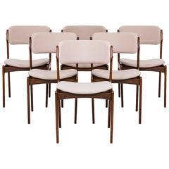 Erik Buck Dining Chairs Model OD-49 by Oddense Maskinsnedkeri in Denmark