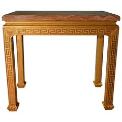 18th Century Fine Carved Giltwood marble top Side Table