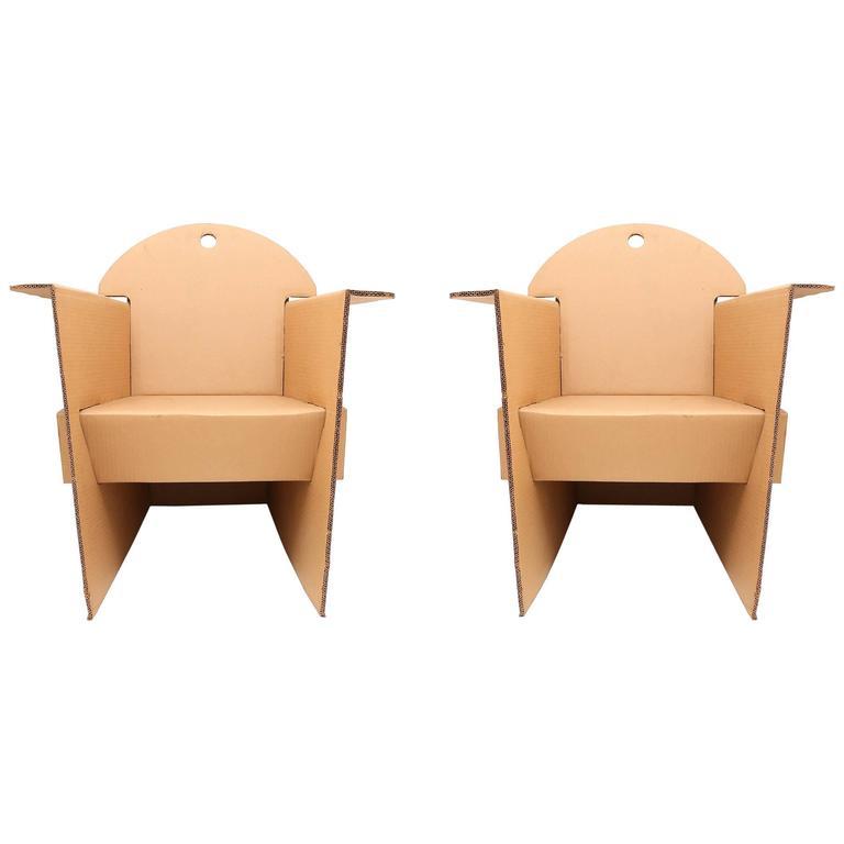 Cardboard Armchairs by Olivier Leblois