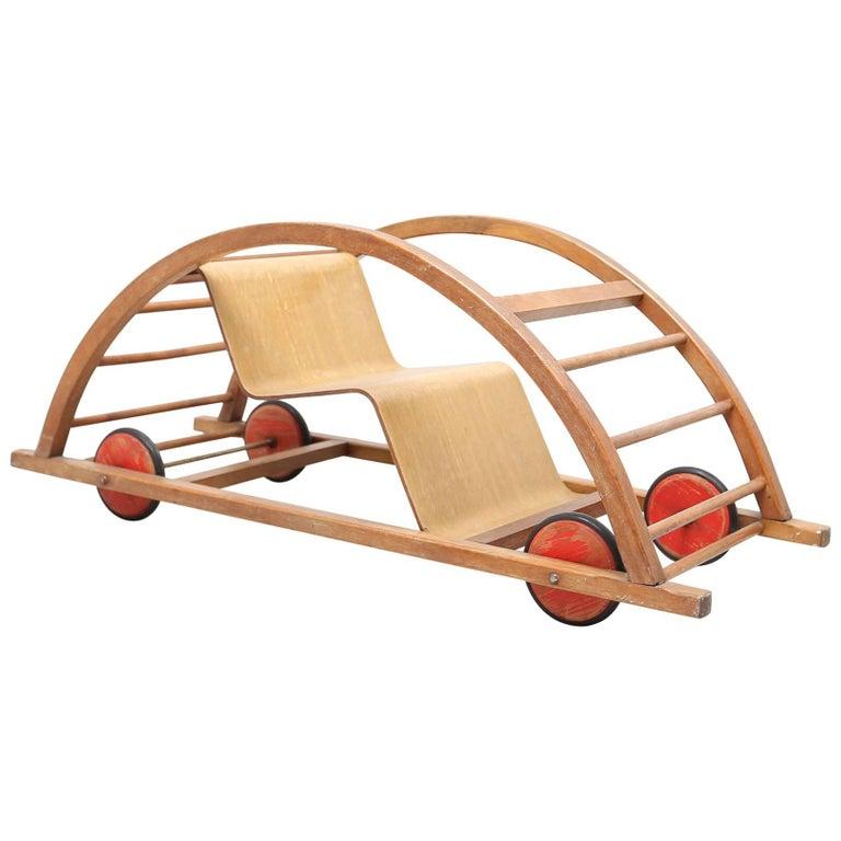 Hans Brockhage Schaukelwagen Swing and Race Car Toy For Sale