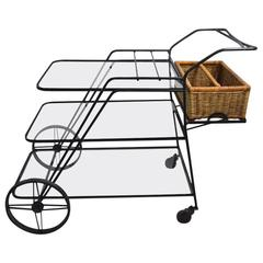 Wrought Iron Garden Serving Cart Attributed to Salterini