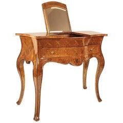 18th Century Rococo Marquetry Vanity Console Table