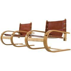 Two Scacciapensieri Chairs by Poltronova
