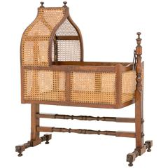 William IV Mahogany Cane Crib