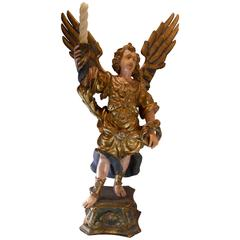 18th Century Wood Carved Gilded Archangel St. Michael