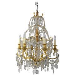 Fine Genoese Crystal Glass Chandelier