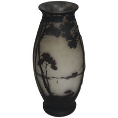 Art Nouveau French Vase by Muller Freres, circa 1920s