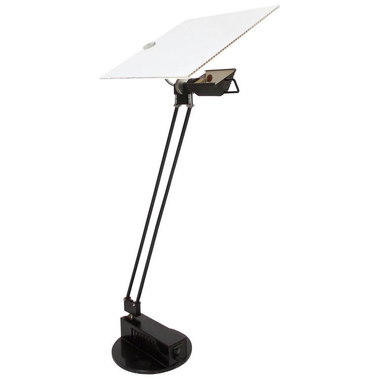 1985, Sacha Ketoff, 'W.O.' Table Lamp, Edition Aluminor