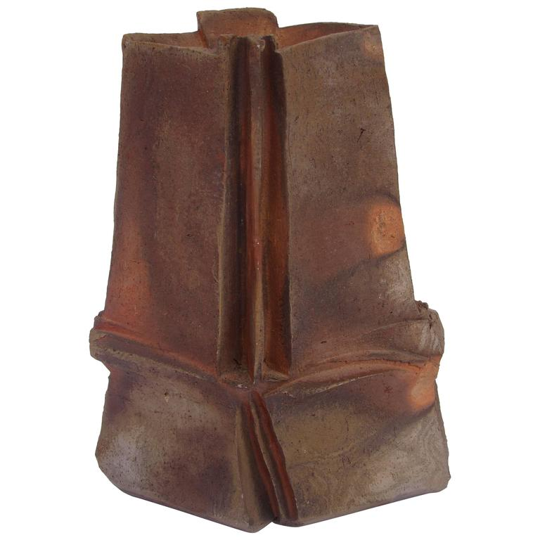 Brutalist Ceramic Sculpture by Eric Astoul, circa 1980-1990 For Sale