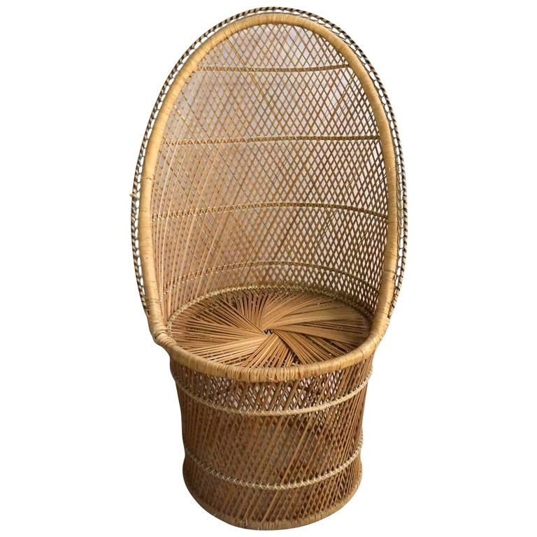 Rattan High Back Chair For Sale