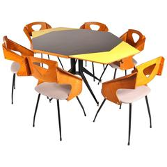 Dining Room Set by Carlo Ratti for Legni Curva, Italy, circa 1950